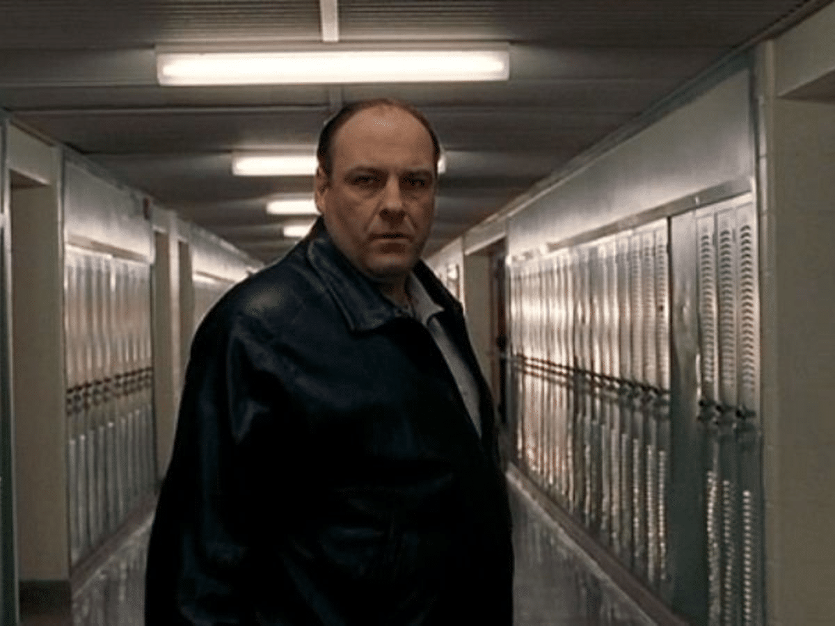 Tony Soprano stares at you menacingly